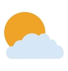 Isolated sun and cloud design vector image