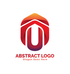 Logo with financial business symbol vector