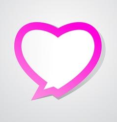 Love bubble vector image