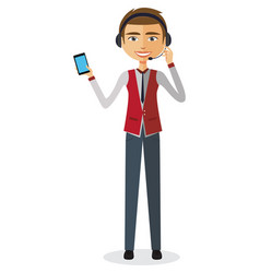 Man customer service vector