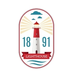 Marine lighthouse logo vector