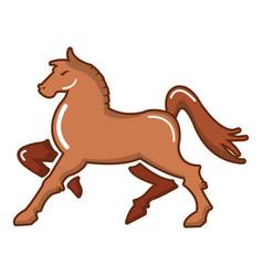 Medieval knight horse icon cartoon style vector