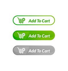 Modern design add to cart button online shop vector