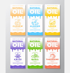 natural oil abstract packaging designs or vector image
