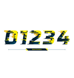 numbers typography font color speed modern style vector image