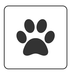 Pets paw icon 2 vector
