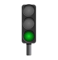 Pillar semaphore green light icon cartoon style vector