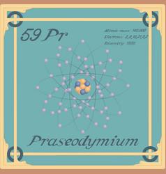 Praseodymium colorful icon vector