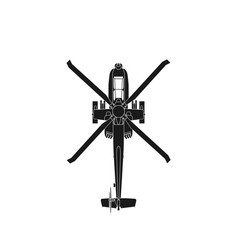 Realistic icon military attack helicopter vector