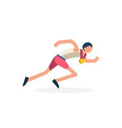 runner athlete running vector image