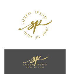 S p handdrawn brush monogram calligraphy logo vector
