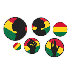 Set different silhouettes african american vector