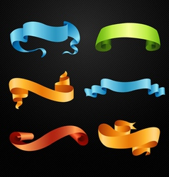 Set of full colors ribbons vector image