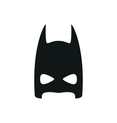 Simple black super hero mask icon on white vector