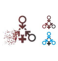 sparkle pixel halftone triple penetration sex icon vector image