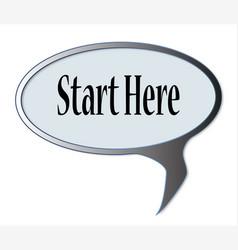 Start here vector