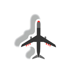 stylish icon in paper sticker style travel vector image