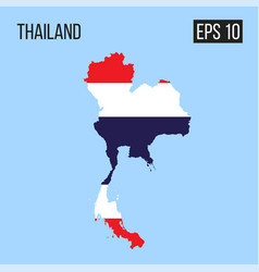 Thailand map border with flag eps10 vector
