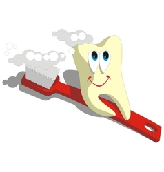 Tooth cartoon set 003 vector image