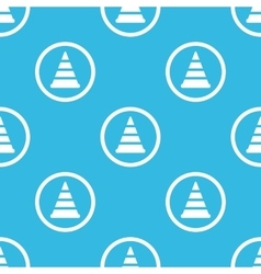 Traffic cone sign blue pattern vector