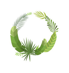 tropical leaves elegant frame with place for your vector image