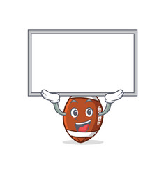 Up board american football character cartoon vector