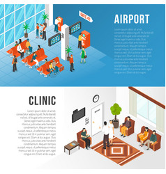 waiting area banners set vector image