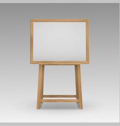 Wooden brown sienna art board easel vector