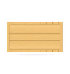 wooden empty signboard badge wood texture vector image