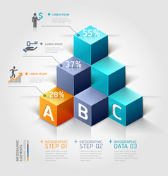3d business infographics staircase diagram vector image vector image