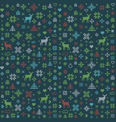 abstract christmas pattern winter scandinavian vector image vector image