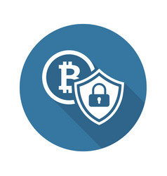cryptocurrency security icon vector image
