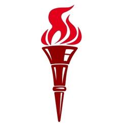 Handheld flaming torch vector image