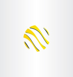 Abstract yellow black business logo globe vector