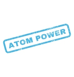 Atom Power Rubber Stamp vector image vector image