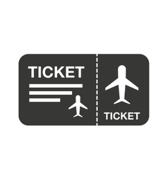 flight ticket isolated icon design vector image vector image