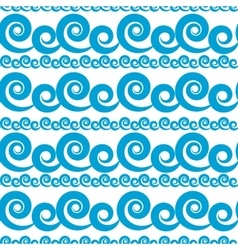 Abstract Wave Seamless Pattern Background vector image vector image