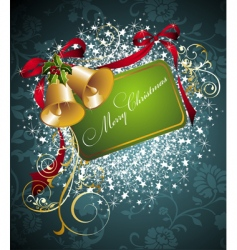 Christmas decorations background vector image vector image