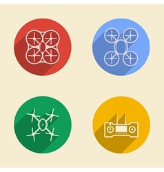 Colored icons for quadrocopter vector image