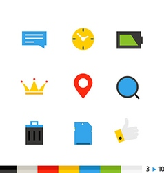 Different flat design icons vector image vector image