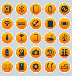 Hardware icons set collection of cellphone vector