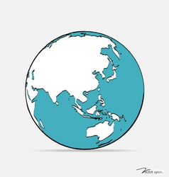 Modern globe drawing concept vector image vector image