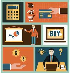 Set of analytics and online marketing symbol vector image