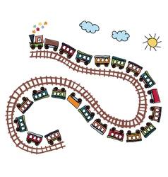 train pattern vector image vector image