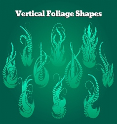 vertical foliage shapes vector image vector image