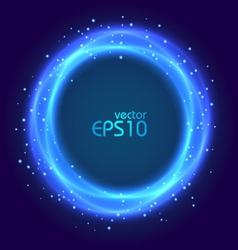 Abstract blue glowing circle vector image vector image