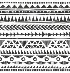 hand drawn tribal print Primitive vector image vector image