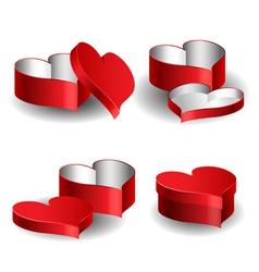 Heart shaped box set vector image vector image