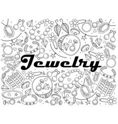 jewelry line art design vector image vector image