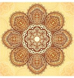 Ornate vintage flower napkin background vector image vector image